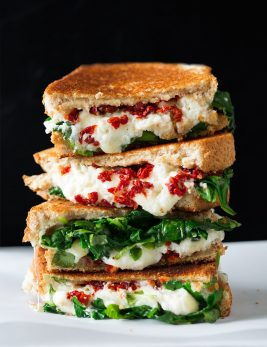 Sun Dried Tomato Spinach and Ricotta Grilled Cheese