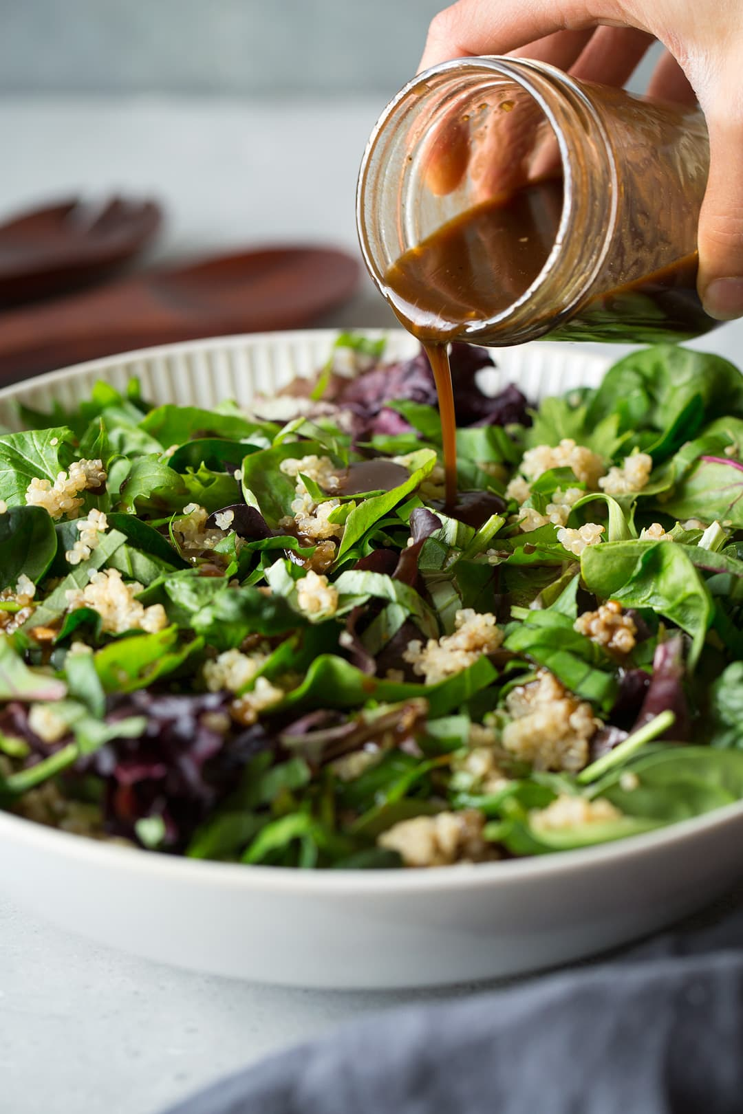 Sun Dried Tomato Spring Salad with Balsamic Vinaigrette