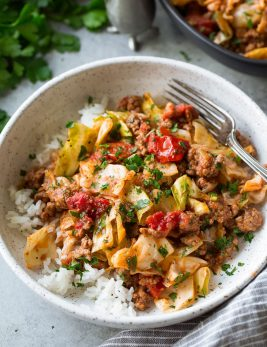 Unstuffed Cabbage Roll Bowls