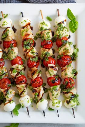 Caprese Chicken Kebabs