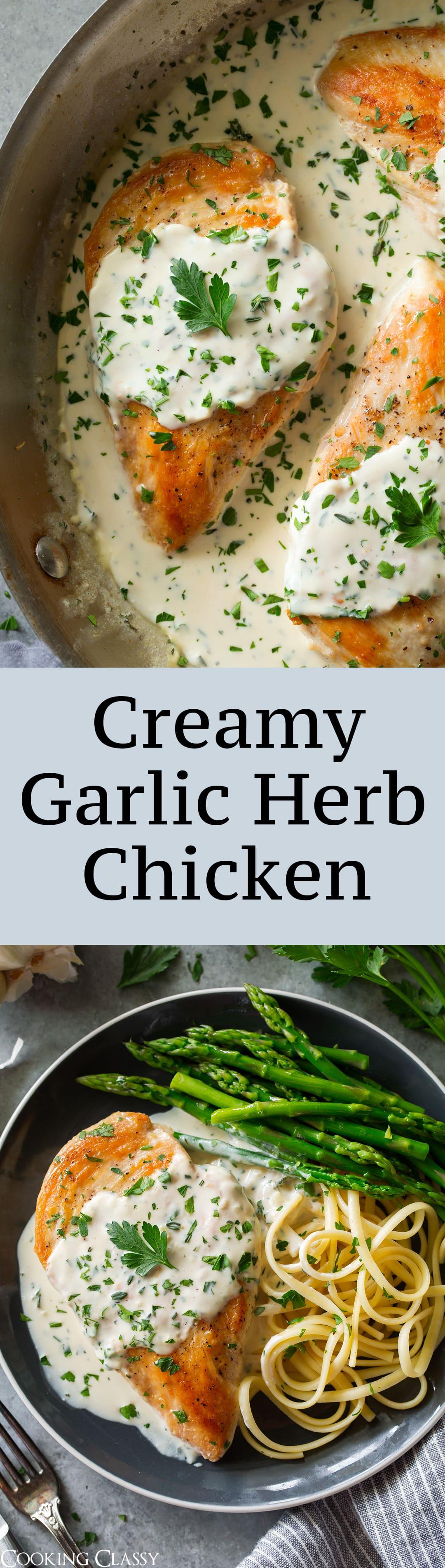 Creamy Garlic Herb Chicken One Of The Best Easy Chicken