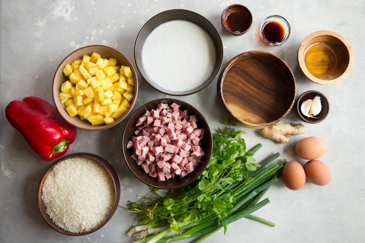 Hawaiian fried rice ingredients