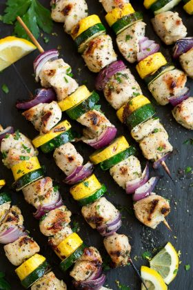 Lemon Pepper Chicken Kebabs