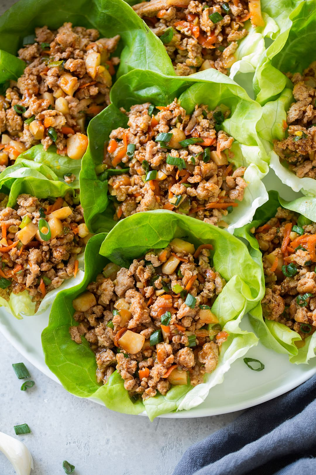 copycat pf chang's lettuce wraps on a plate