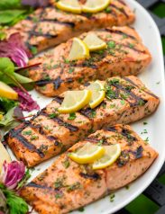 Grilled Lemon Garlic Herb Salmon
