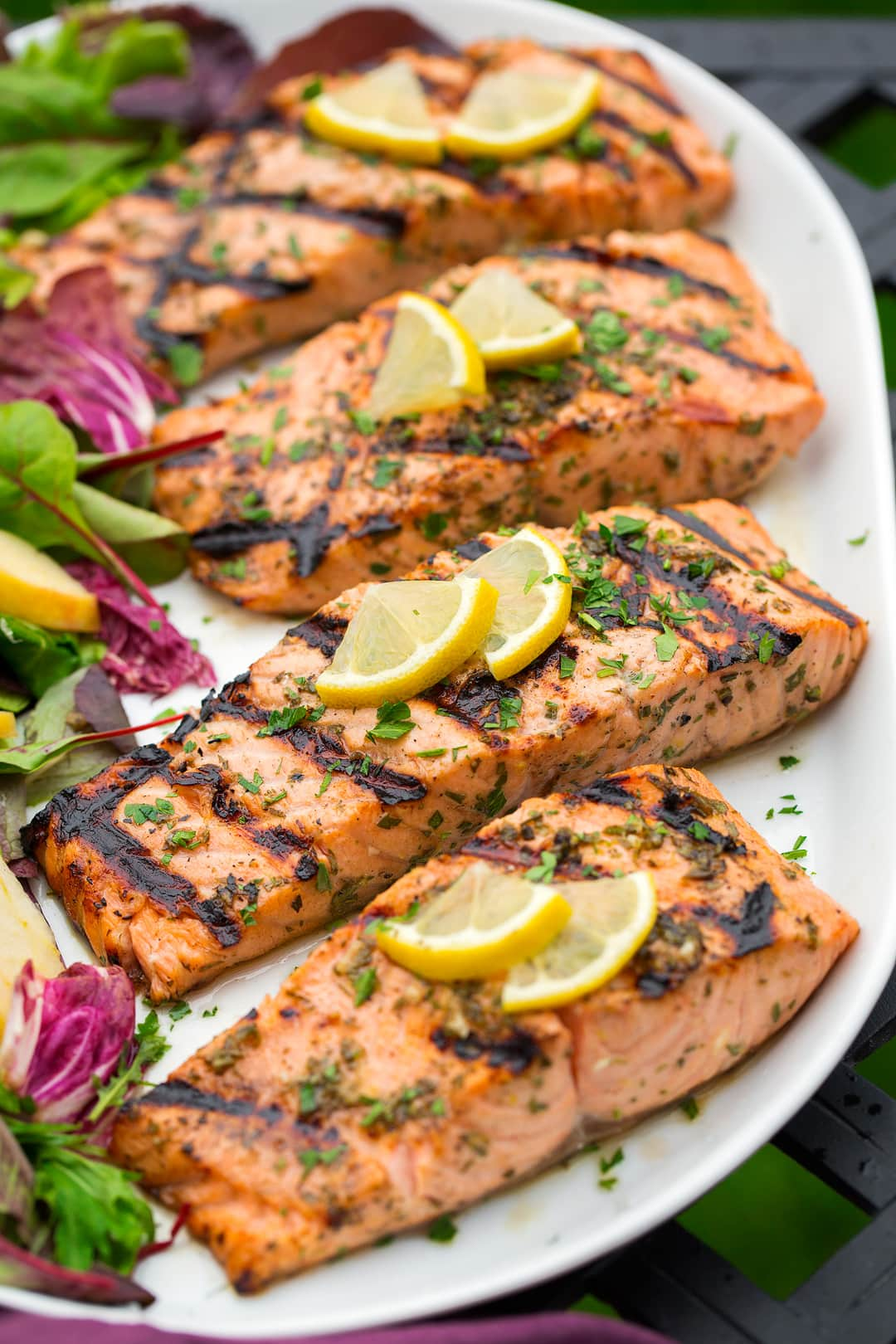 Grilled Lemon Garlic Salmon Recipe - Cooking Classy