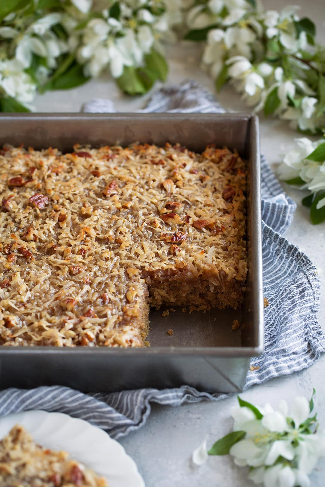 Oatmeal Cake in 9 by 9-inch pan