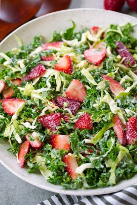 Strawberry Kale Coleslaw