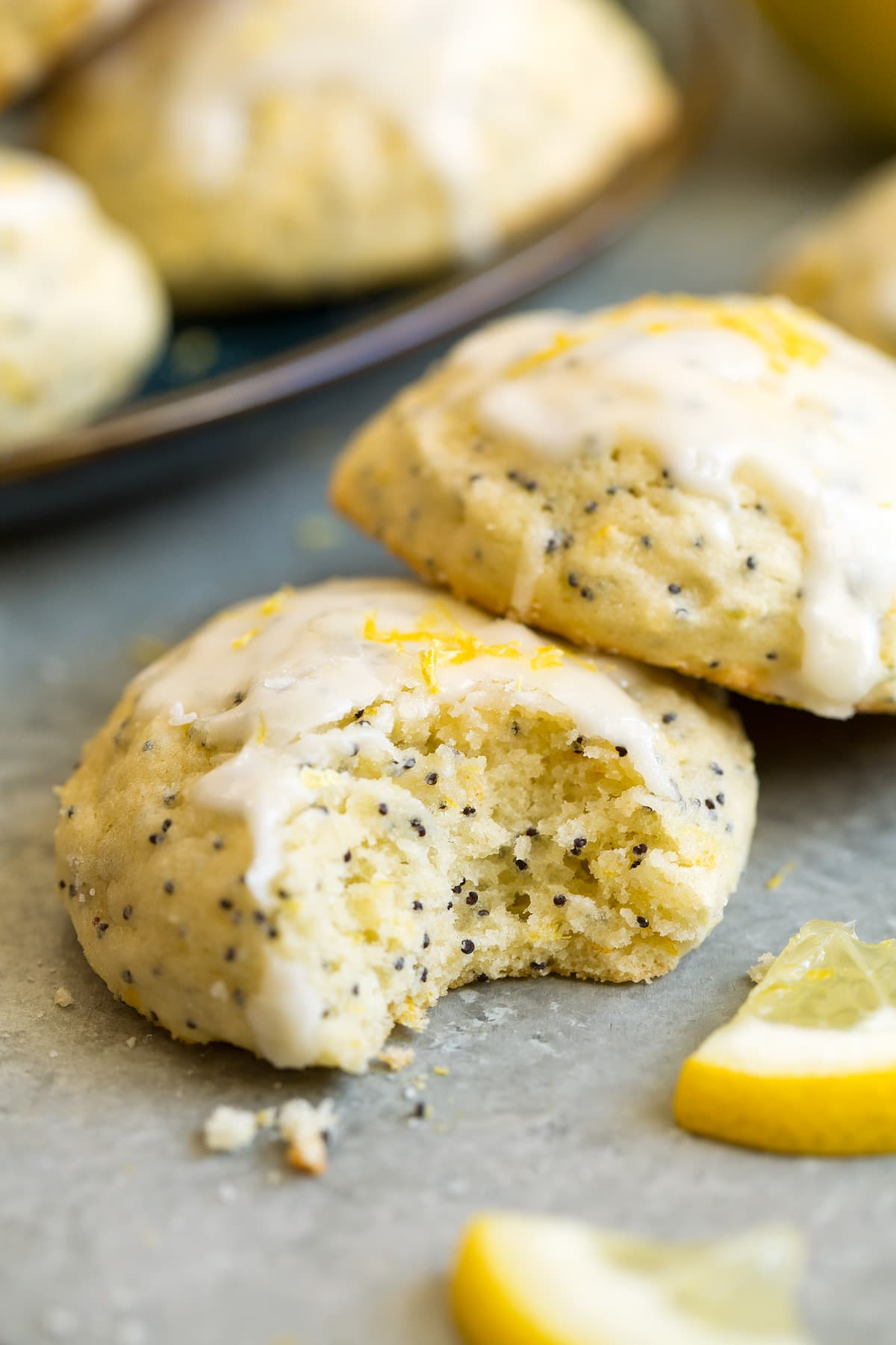 Lemon Poppy Seed Ricotta Cookies