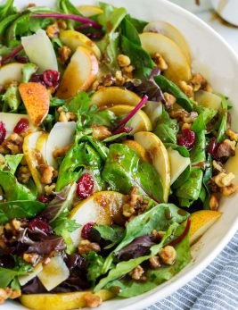 Pear Salad with Balsamic Vinaigrette