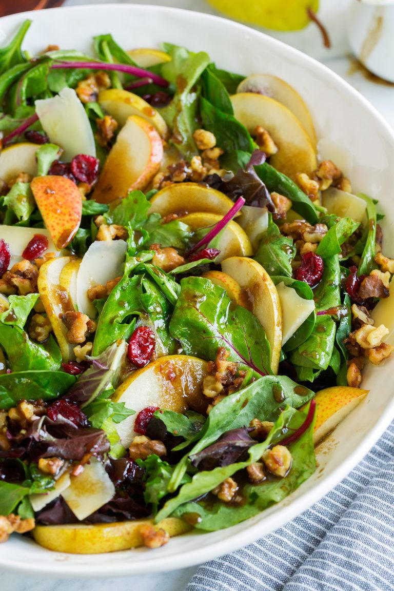 Honey-Ginger Pear Salad Recipe