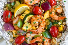 Shrimp and Veggie Foil Packs