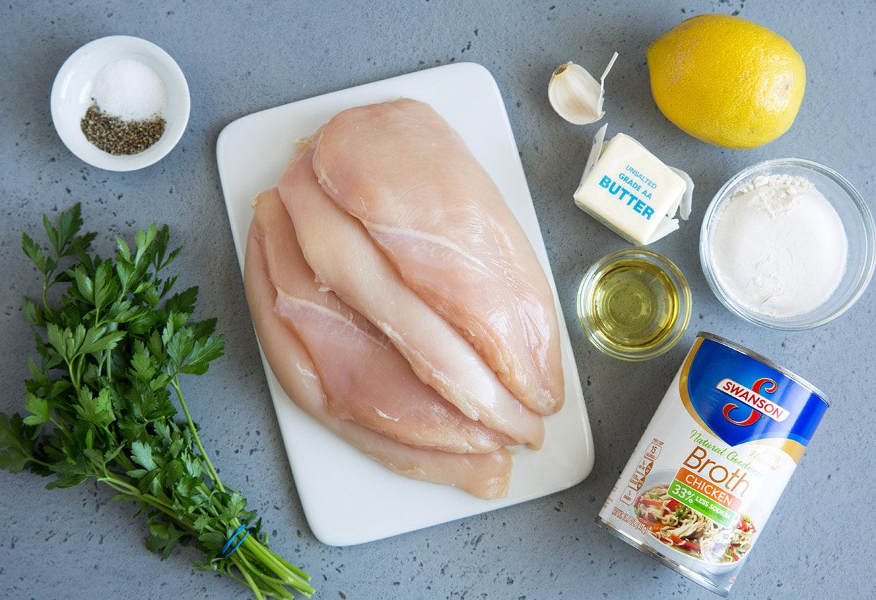 Lemon butter chicken ingredients chicken olive oil salt pepper chicken broth flour lemon garlic parsley butter