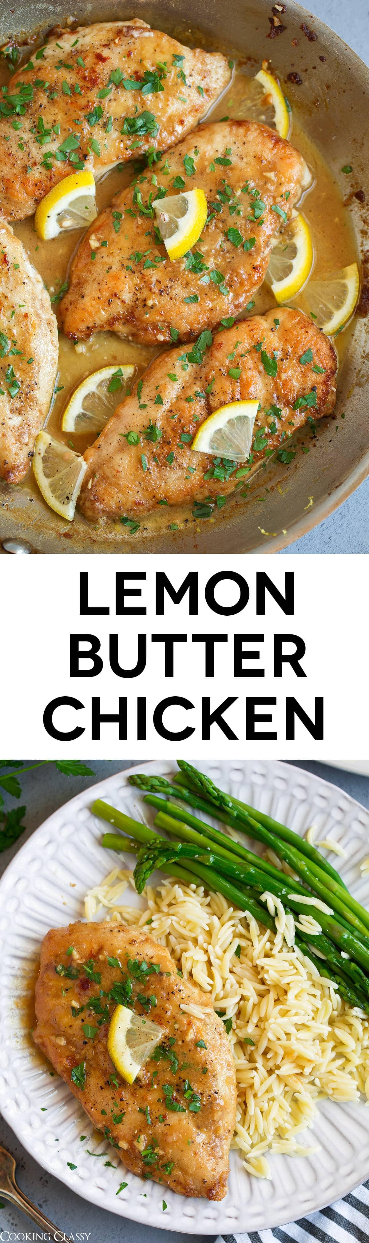 Lemon Butter Chicken - TASTIEST, EASIEST chicken recipe! Loved everything about this! #chicken #recipe #lemonchicken #dinner