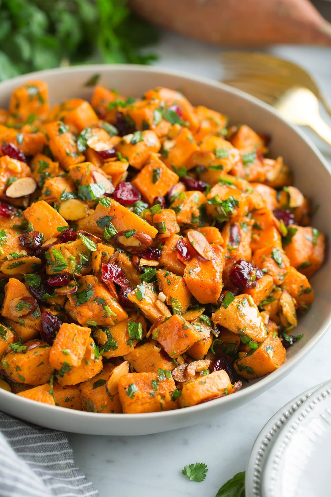 Sweet Potato Salad {with Moroccan Flavors} - Cooking Classy