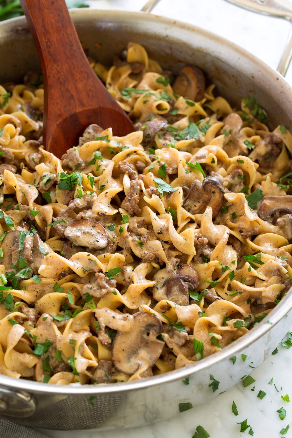 Beef Stroganoff {Easy One Pot Recipe}