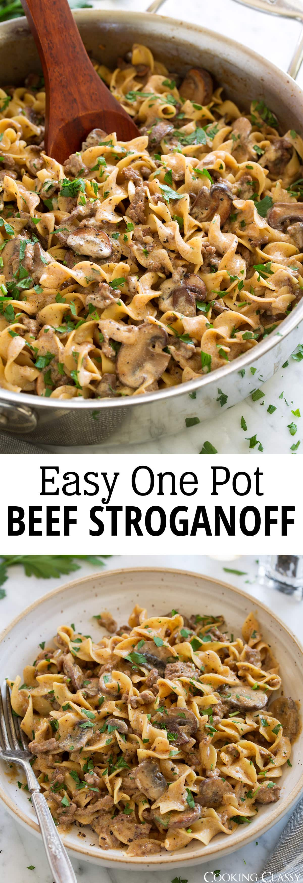 Beef Stroganoff Easy One Pot Recipe Cooking Classy