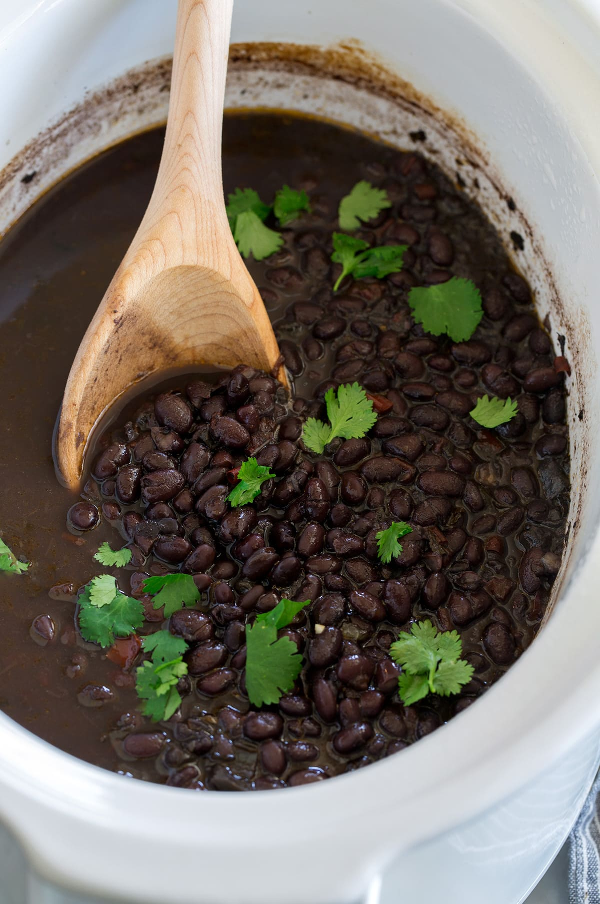 Black Beans made in the Crockpot or Instant Pot