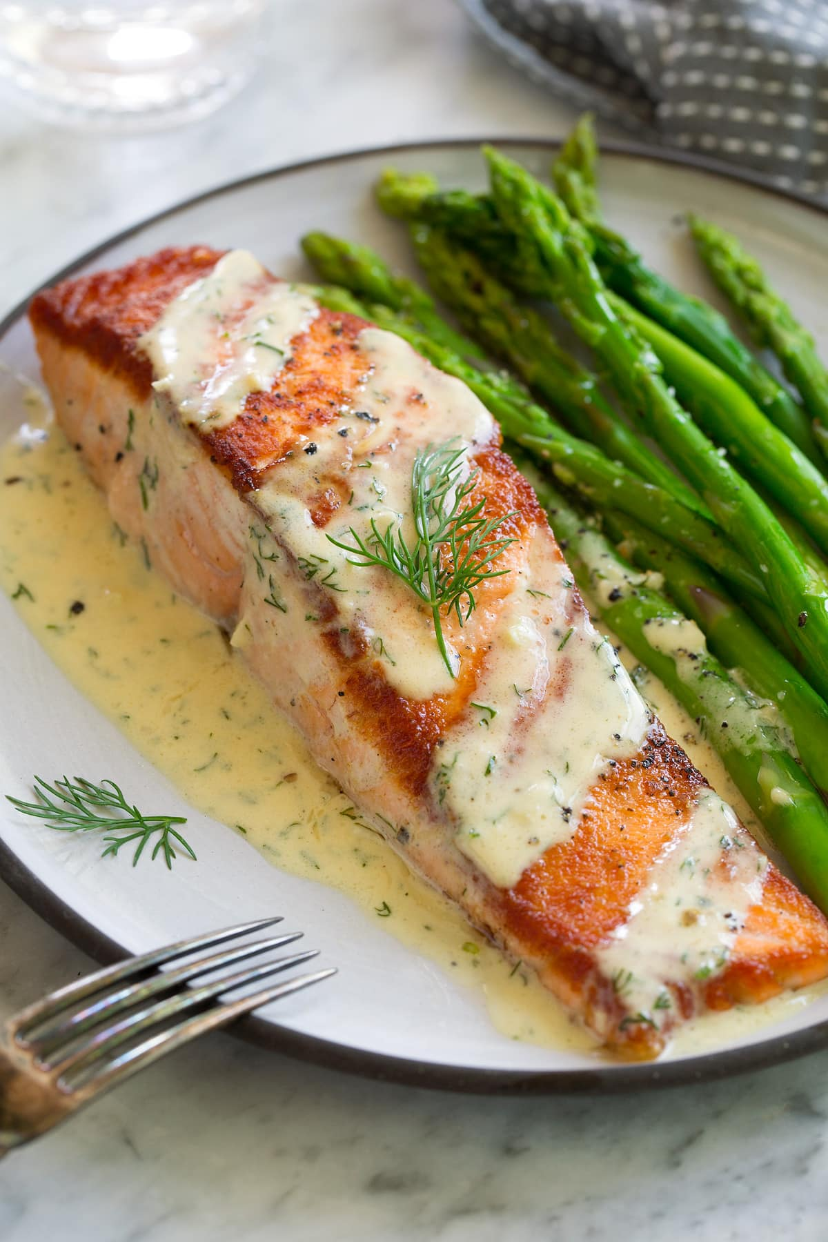 Salmon With Creamy Garlic Dijon Sauce Cooking Classy