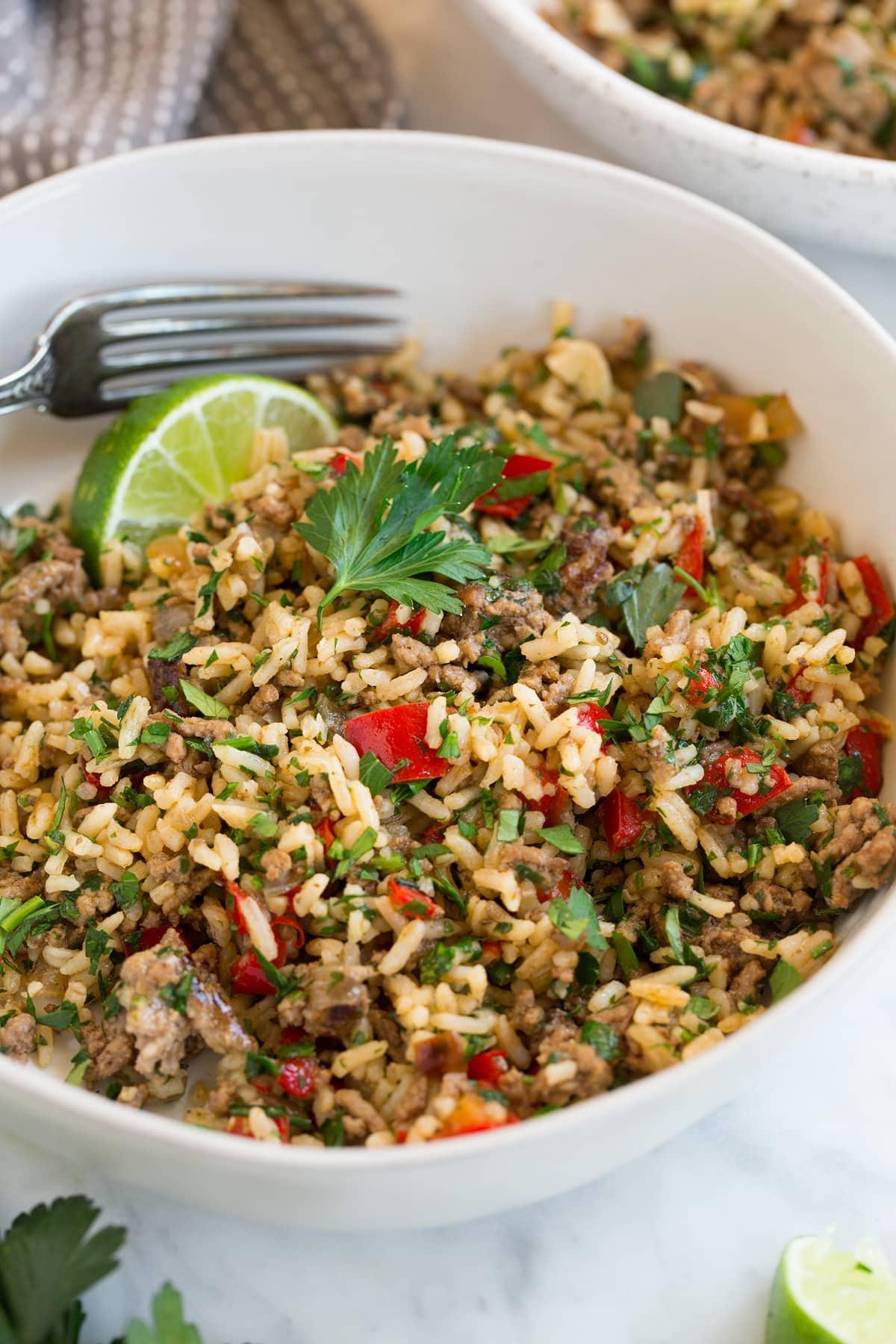 Chimichurri Beef and Rice