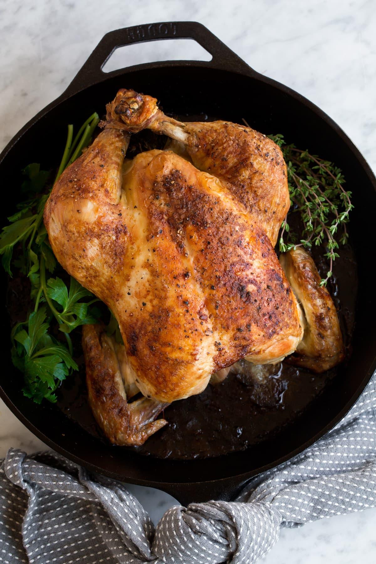 Roast Chicken {and Homemade Chicken Gravy}