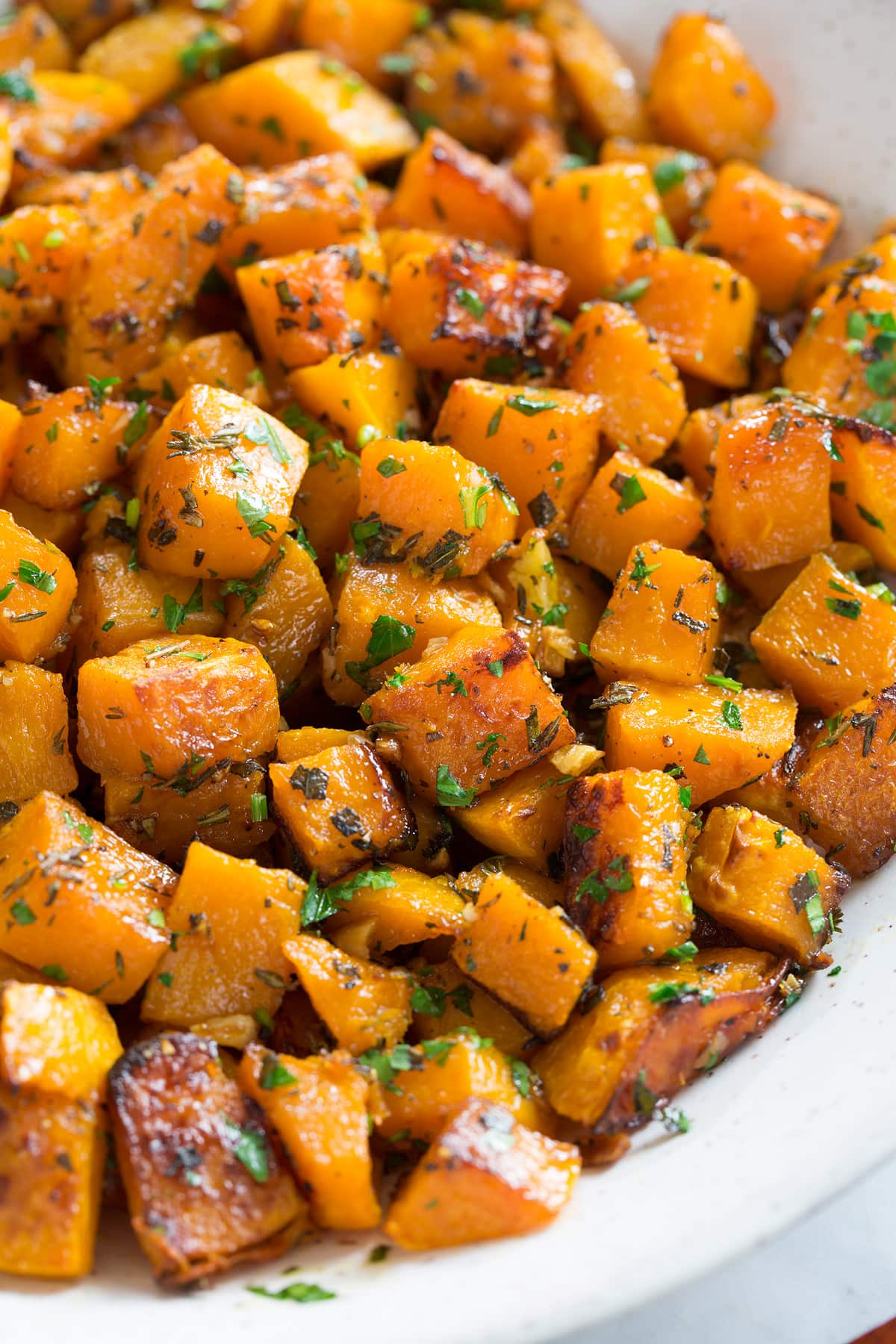 Roasted Butternut Squash With Garlic And Herbs Cooking Classy
