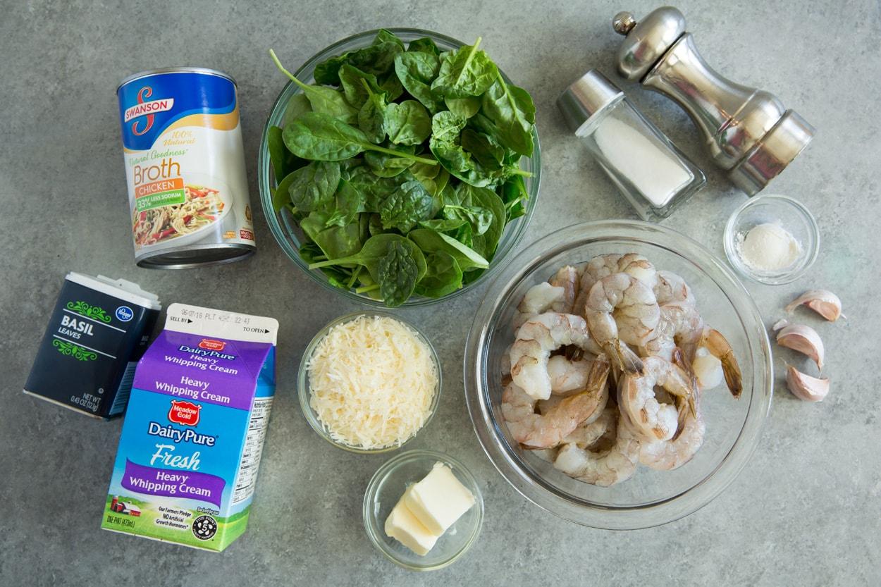 Creamy Parmesan Spinach Shrimp