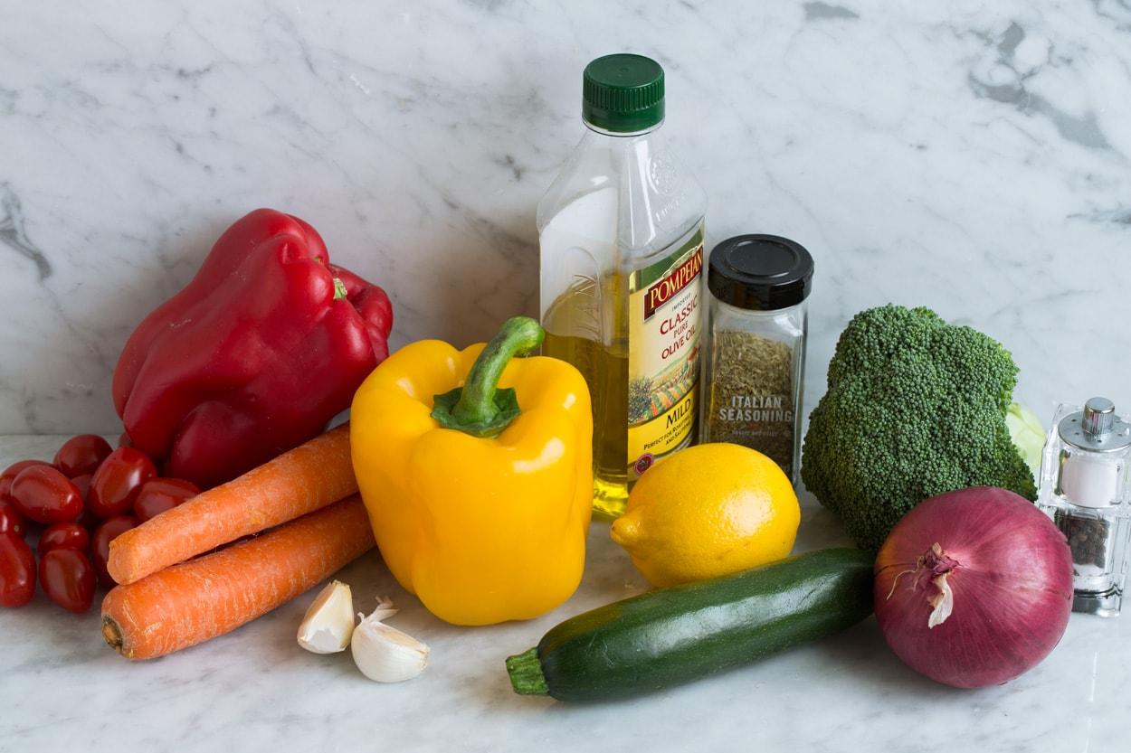 Ingredients for Roasted Vegetables