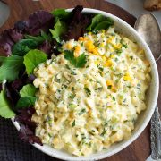 Egg Salad in a serving bowl.