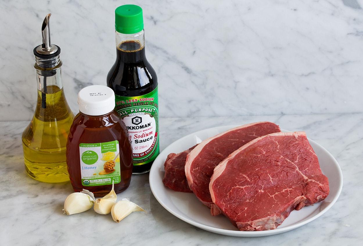 Honey Garlic Steak Bites Ingredients
