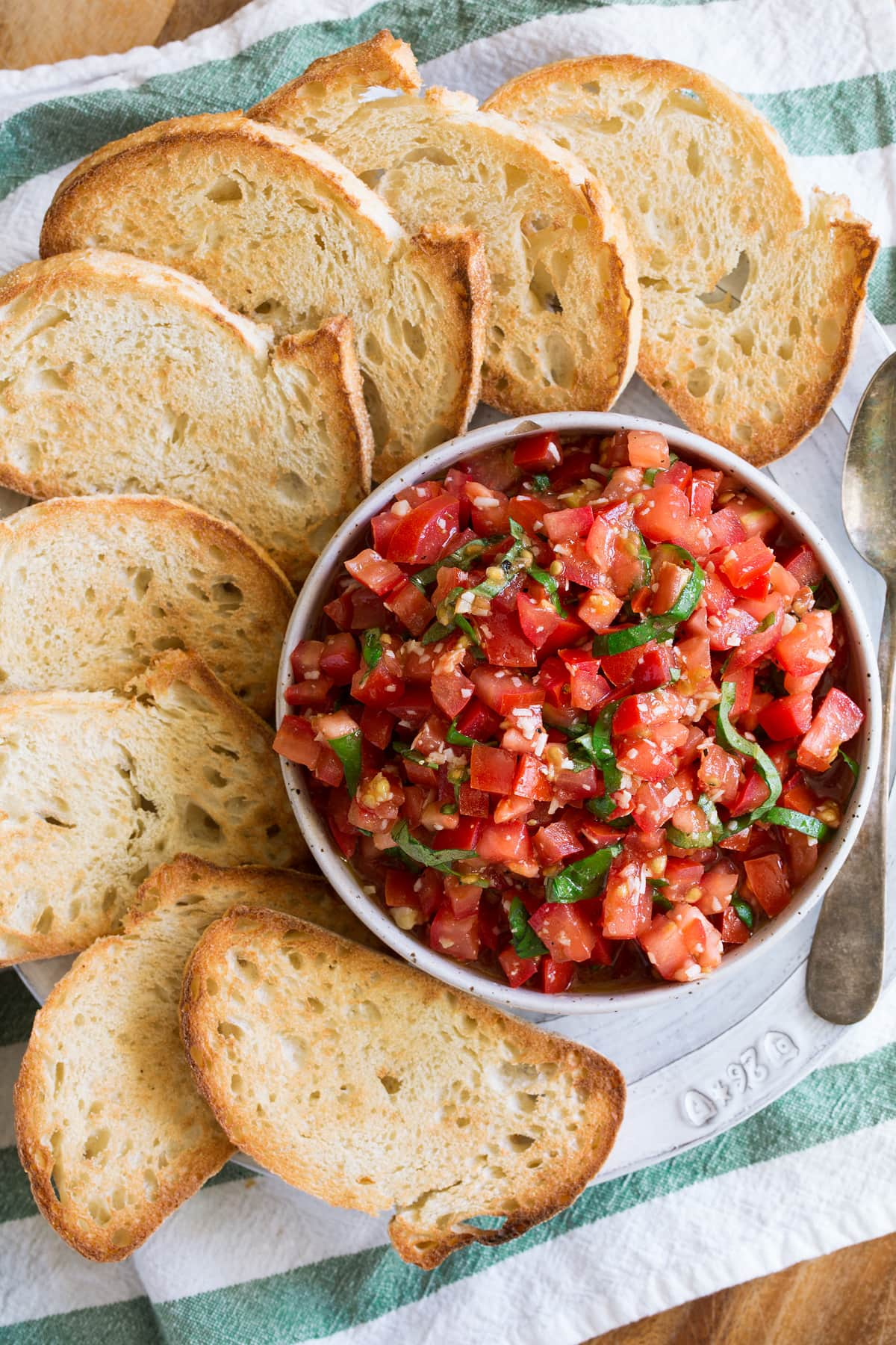 Fresh easy homemade Bruschetta