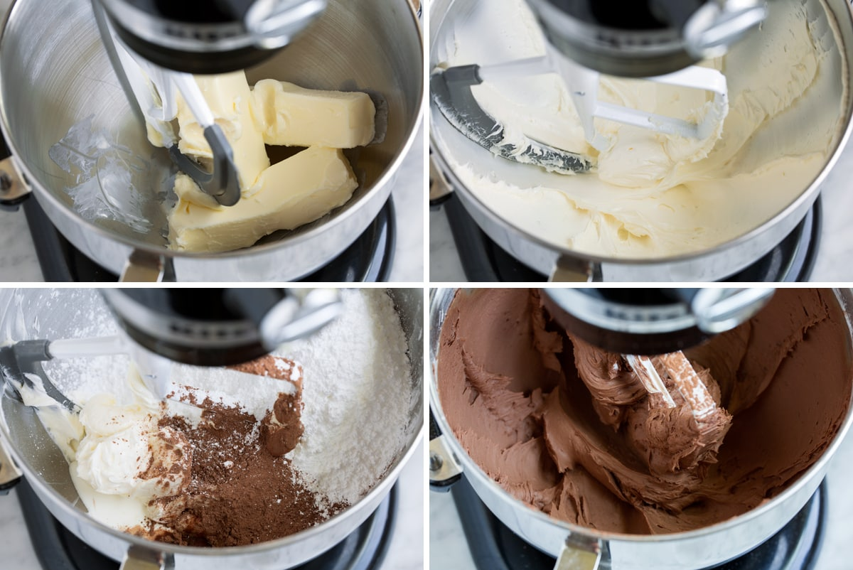 Steps to making chocolate frosting