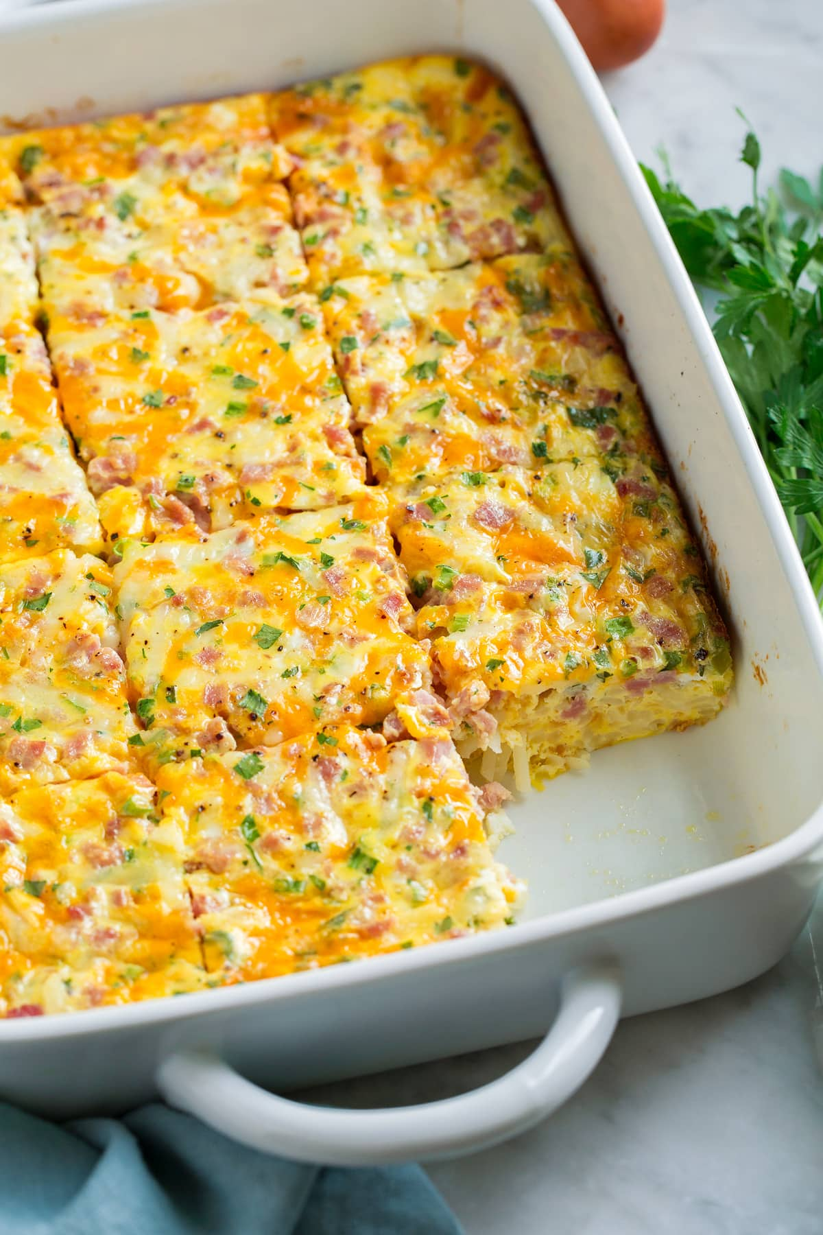 Image of make ahead breakfast casserole.