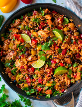 Chicken Fajita Rice Bowl