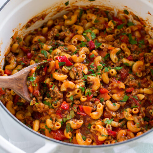 Easy Goulash Recipe One Pot American Style Cooking Classy