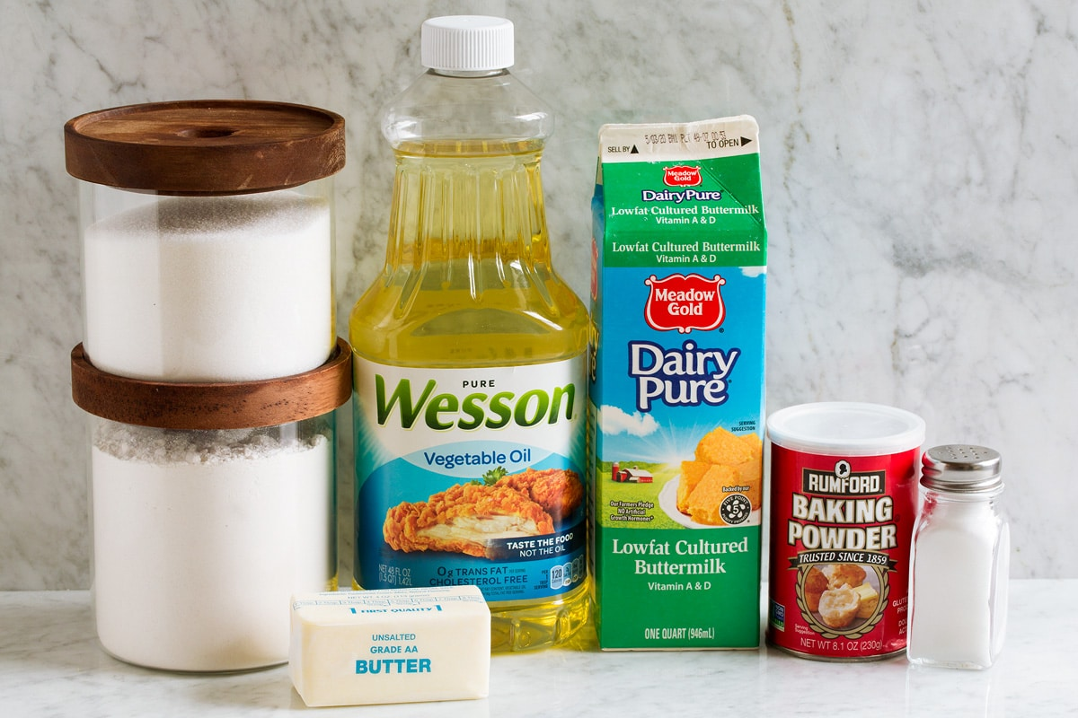 Ingredients used to make homemade donut holes