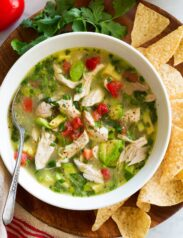 Chicken Soup with Avocado