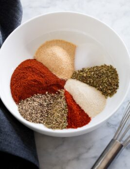 Photo: Cajun spices shown before mixing.